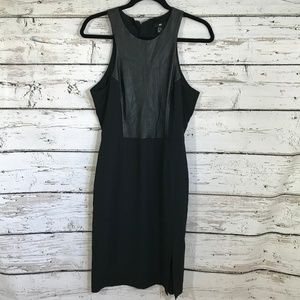 H&M Black Faux Leather top Dress